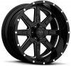 Tuff T-15 18X10 Gloss Black with Milling