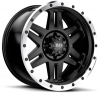 Tuff T-16 17X9 Satin Black Machined