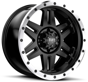 Tuff T-16 22X10 Satin Black Machined