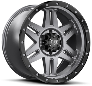 Tuff T-16 22X10 Satin Gunmetal with Satin Black