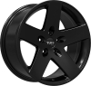 Tuff T-20 17X8 Satin Black
