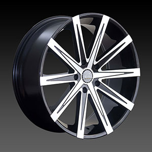 U2-23A Black Machined 24 X 9.5 Inch Wheel