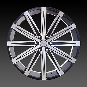 U2-23B Black Machined Wheel Packages
