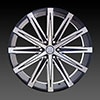U2-23B Black Machined 26 X 10 Inch Wheel