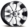 Ultra Mako 243-9244 Black Machined 17 X 8 Inch Wheel
