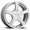 Ultra Slalom 403 Silver 16 X6.5 Inch Wheel