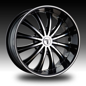 Velocity VW 15 Black with Machined Face Wheel Packages