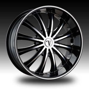 Velocity vw15 Black Machined with Machined Lip 24 X 8.5 Inch Wheel