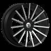 Velocity VW 17A 20X7.5 Black Machined