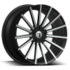 Velocity VW 17A 22X9 Black Machined