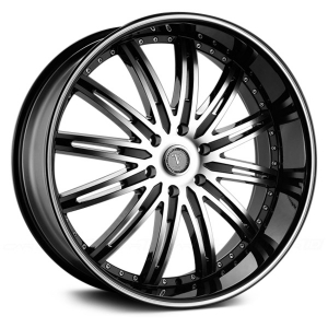 Velocity VW 865BM 26X9.5 Black Machinied with Machined Lip