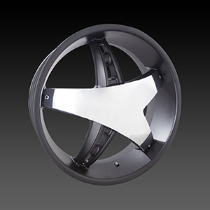 Velocity VW 930C Black with Chrome Insert Wheel Packages