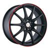 Velocity vw211 Black 17 X 7.0 Inch Wheel