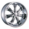 Velocity vw725 Chrome 20 X 8.0 Inch Wheel