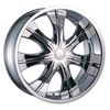 Velocity vw750S Chrome 20 X 8.0 Inch Wheel