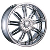Velocity vw800S Chrome 20 X 8.0 Inch Wheel