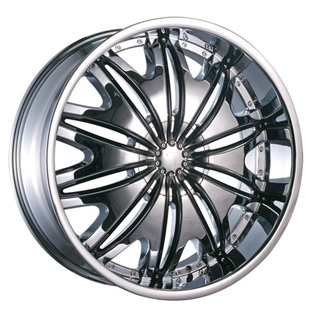 Velocity VW 820 Chrome with Black Inserts Wheel Packages