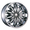 Velocity vw820 Chrome 24 X 10 Inch Wheel