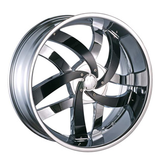 Velocity VW 825 Chrome with Black Inserts Wheel Packages
