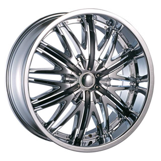 Velocity VW 830 Chrome with Black Inserts Wheel Packages