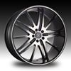 Velocity vw910 Machined 20 X 7.5 Inch Wheel