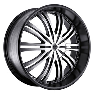 Strada Venti Black Machined Face 24 X 9.5 Inch Wheels