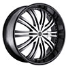 Strada Venti Black Machined Face 22 X 8.5 Inch Wheels