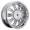 Strada Venti Chrome 24 X 9.5 Inch Wheels