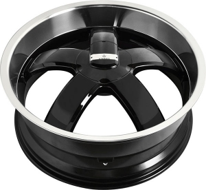 Verde Skylon 18X8 Black with Machined Face