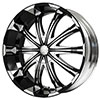 Verde Avatar Black with Chrome Face 20 X 8.5 Inch Wheels