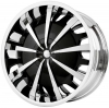 Verde Vantage 20X8.5 Chrome Lip & Inserts Black Face