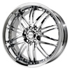 Verde Kaos Chrome 22 X 8.5 Inch Wheels