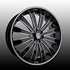 Versante 225 Black with Machined Stripe Wheel Packages