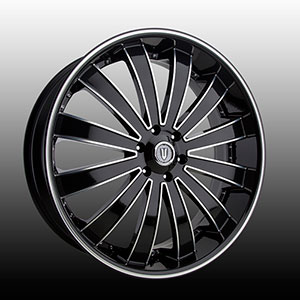 Versante 225 Black with Machined Stripe 24 X 9.5 Inch Wheel
