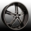 Versante 226A Black Machined 22 X 8.0 Inch Wheel