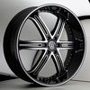 Versante 226B Black with Machined Stripe 28 X 10 Inch Wheel