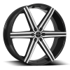 Versante 228 (6 Spoke) 28X9.5 Black Machined