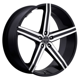 Versante 228 19X8.5 Black Machined