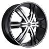 Strada Vetro Black with Machined Face 22 X 9.5 Inch Wheels