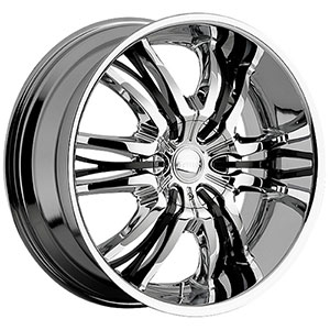 Viscera 767 Black with Chrome Inserts Wheel Packages