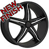 Viscera  VSC 770 Black with Chrome Inserts Wheel Packages