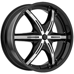 Viscera 841 Black with Chrome Inserts Wheel Packages