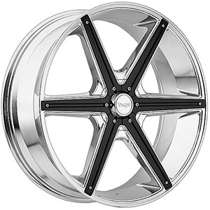 Viscera 842 Chrome with Black Inserts Wheel Packages