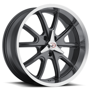 Vision 143 Torque 18X9.50 Charcoal with Machine Lip