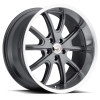 Vision 143 Torque V2 15X8 Charcoal with Machine Lip
