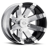 Vision 158 Buckshot 15X8 Gloss Black with Machined Face