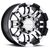 Vision 375 Warrior 16X8 Gloss Black with Machine Face
