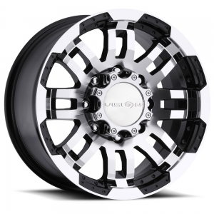 Vision 375 Warrior 18X8.5 Gloss Black with Machine Face