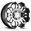 Vision 375 Warrior 14X8 Gloss Black with Machine Face V2