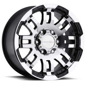 Vision 375 Warrior 18X8.5 Gloss Black with Machine Face V2